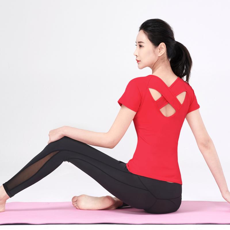 好看的瑜伽服女套装夏天薄款网红健身房运动跑步速干衣性感瑜珈服包邮