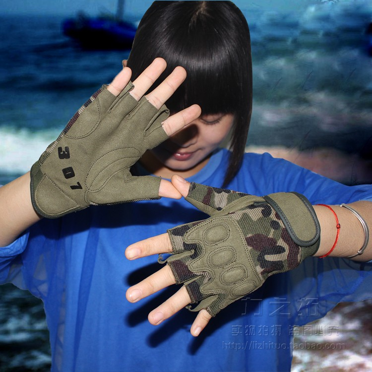 07 paratrooper tactical gloves Half Finger mens army fans outdoor climbing gloves sports full length refers to cycling gloves