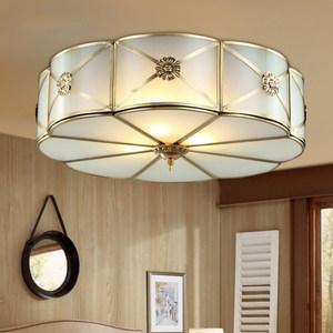美式全铜卧室吸顶灯 简约欧式餐厅卧室书房阳台玄关吸顶灯 H03 N