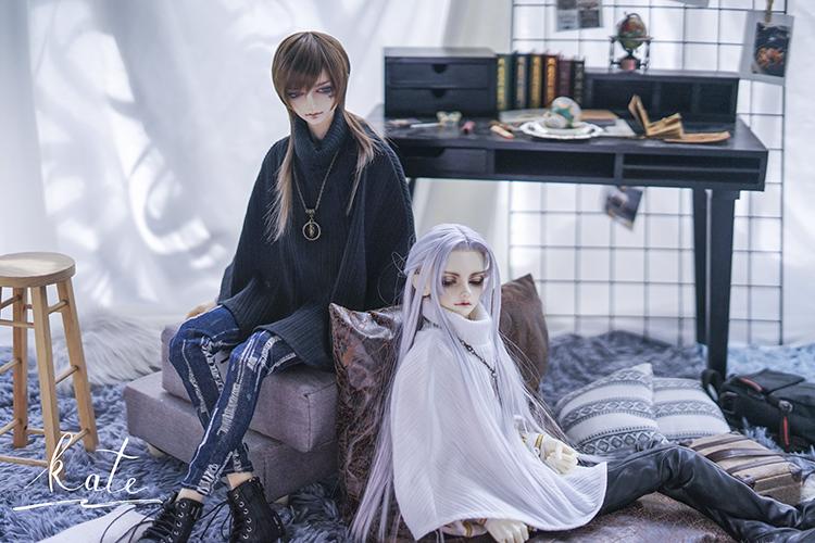 [vassago]bjdマント3分4分のおじさんsd娃服高襟マント人形娃服