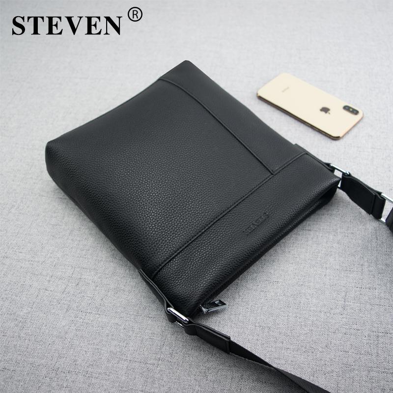 Step leather single shoulder bag mens leisure bag mens Messenger Bag Leather Shoulder Bag cross span large capacity small messenger bag
