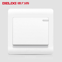 DELIXI switch Socket Socket panel switch panel wall switch an open single-controlled fluorescent switch