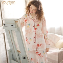 Yourban Moon Dress Summer Thin Cotton Home Dress Spring and Autumn Maternal Breastfeeding Pregnant Women's Nightwear