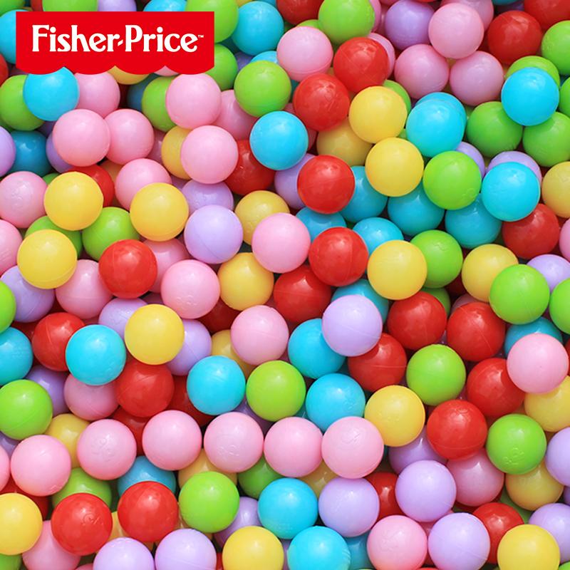 费雪牌海洋球池围栏室内无毒无味波波池彩色球家用儿童宝宝玩具热销0件有赠品