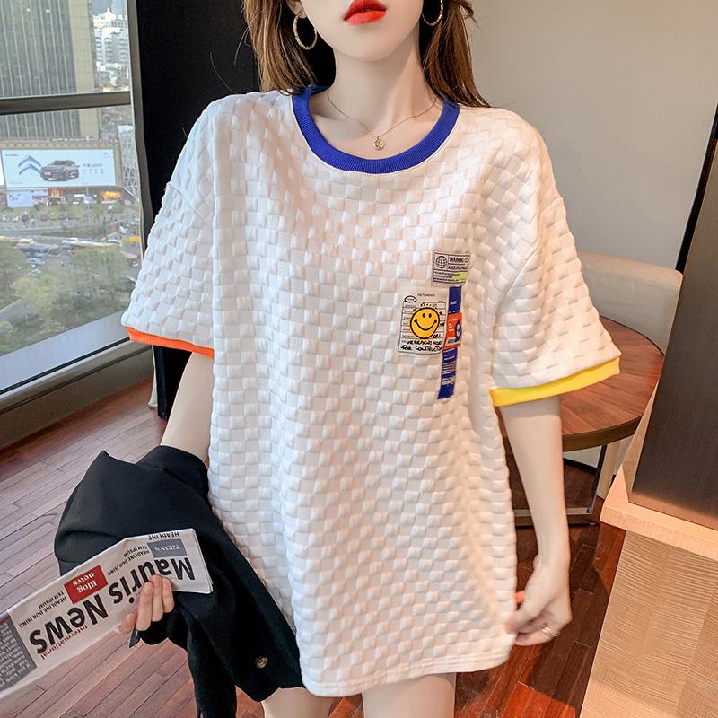 2529#校园学院风百搭减龄短袖T恤叠穿内搭打底衫辣妹穿搭上衣潮流