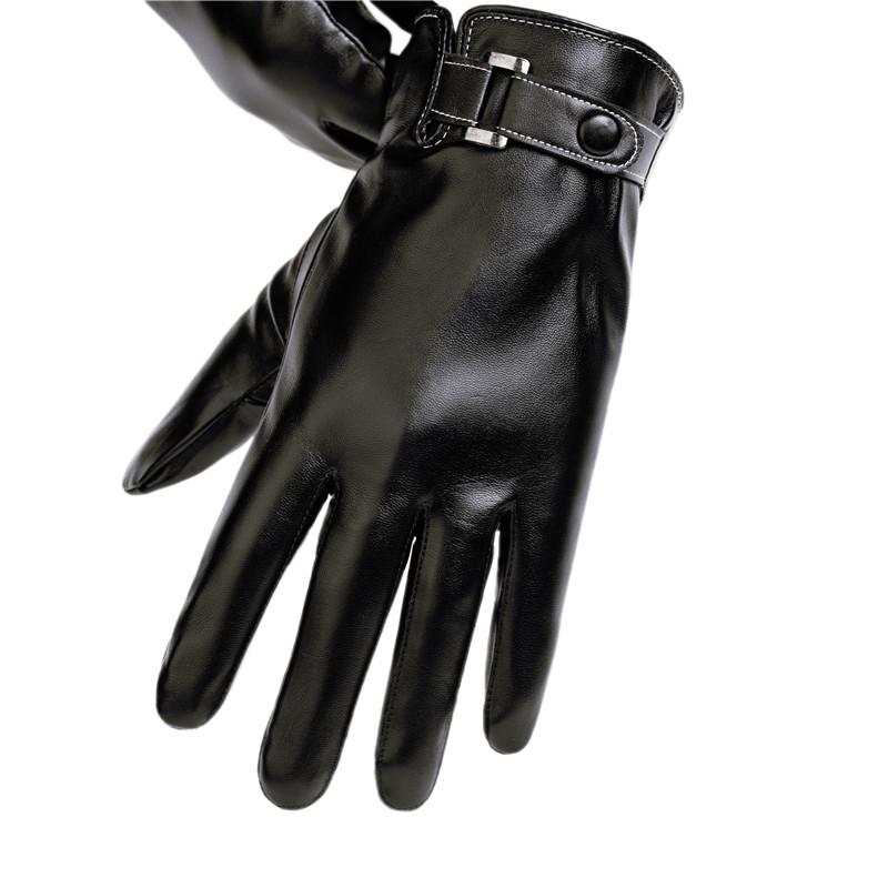 皮手套男士秋冬季薄款骑行摩托车加绒加厚防风防水触屏保暖棉手套