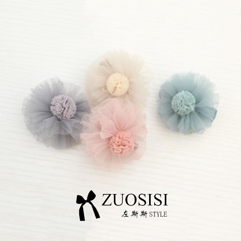 假一赔三zuosisi宝宝发饰韩国女童花朵发夹儿童全包不伤发头花公主发卡
