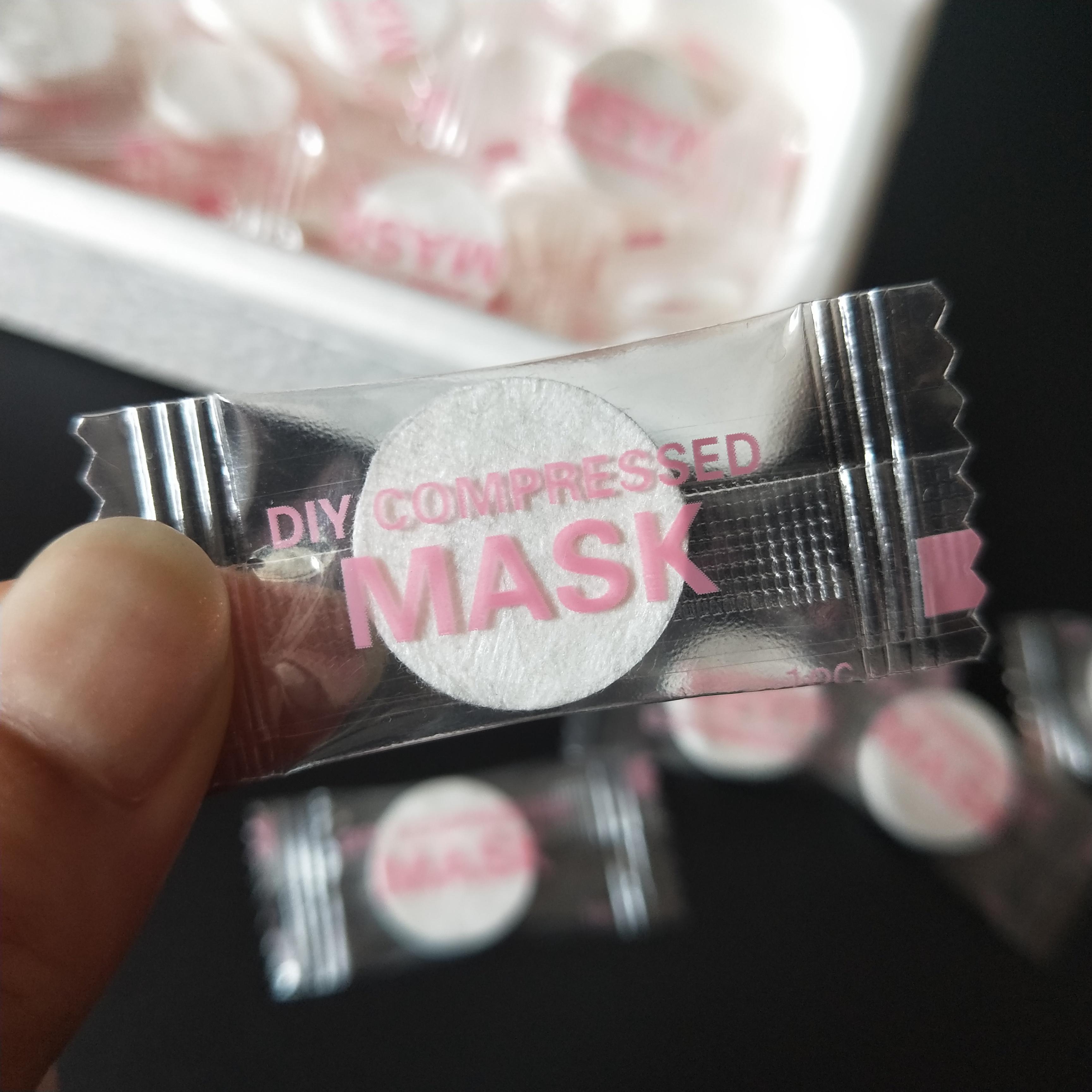 包邮蚕丝压缩面膜超薄隐形天丝湿敷纸膜化妆工具MASK水疗膜100粒