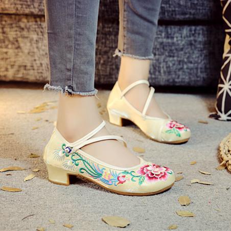 步绣缘(花笼凤)新款方根汉服鞋优雅舒适百搭民族风女单绣花布鞋