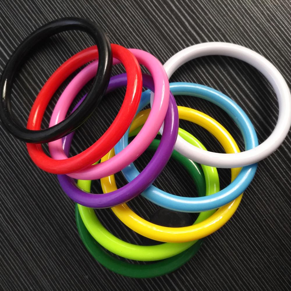 Korean popular jewelry candy color acrylic plastic bracelet Girl Jewelry Beach Party stall 0.8cm