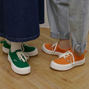 玛速主义2021新款平底板鞋女夏增高松糕厚底帆布鞋休闲大头运动鞋