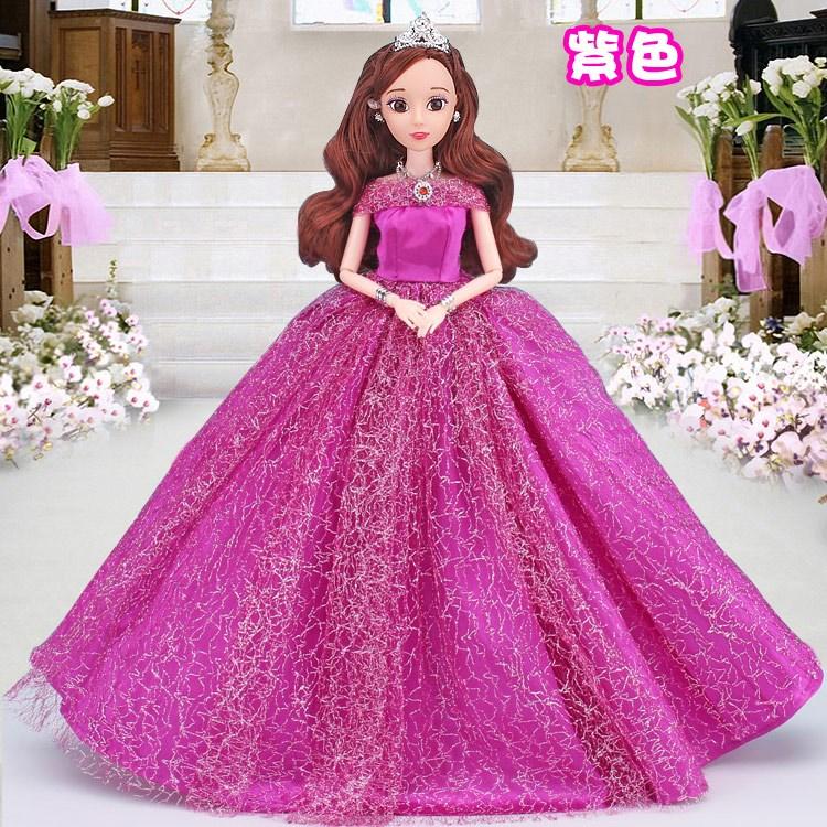 会说话唱歌的芭比娃娃套装大礼盒婚纱孩公主洋娃娃玩具送赠品(非品牌)