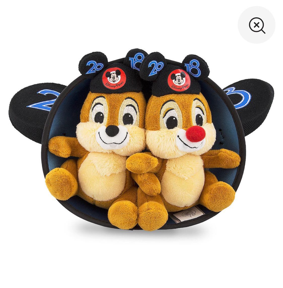 美国购回 Disney 花栗鼠 chip N Dale 2018 限定玩偶 现货
