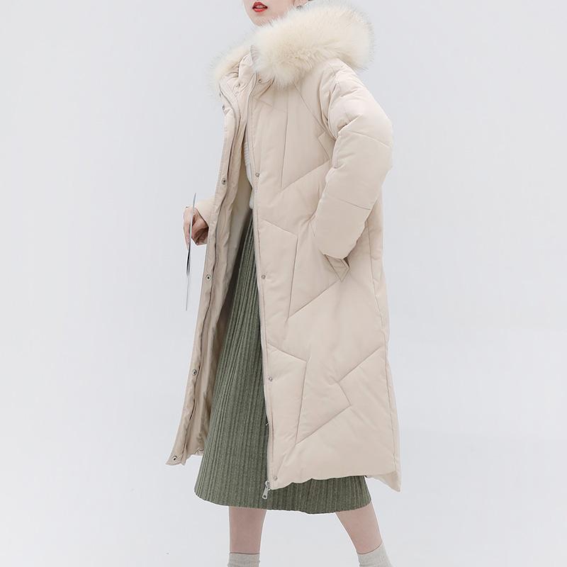 金大班弥生2018冬季新款韩版可爱百搭中长款毛领棉衣袄女加厚保暖