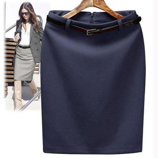 秋冬女装半身裙面试包臀OL职业工作一步裙中长西装及膝裙