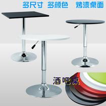 美式实木吧台桌高脚桌酒吧台家用小吧台复古咖啡桌奶茶店桌椅组合