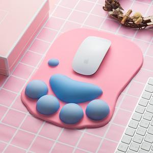 云木杂货 可爱猫爪立体鼠标垫加厚护腕垫办公游戏创意舒适防滑垫