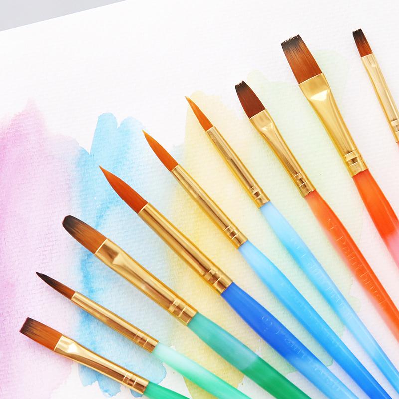Прекрасный техника акварель щетка 3 палочки установите новичок портативный акварель нейлон волосы гуашь живопись пигмент карандаш