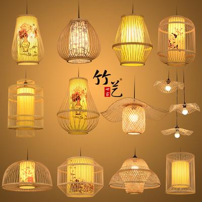 东南亚竹编灯笼饭店茶楼包间吊灯