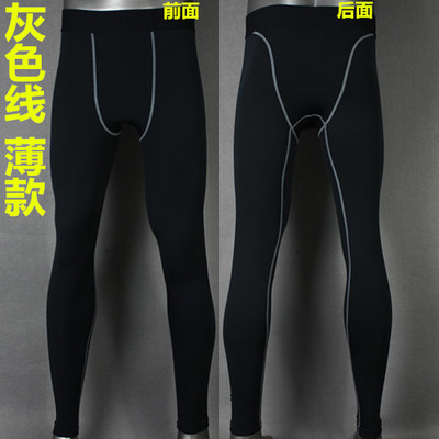 Kobe pro basketball high elastic sports mens basic training tight long pants quick dry Plush thick oversize