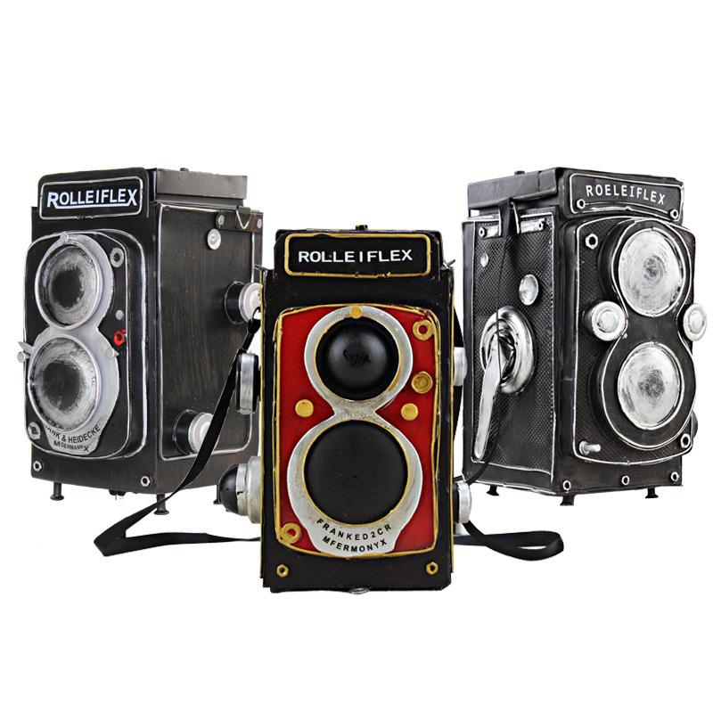 仿真欧式复古老式胶卷照相机模型拍摄道具影楼服装店铺橱窗摆件