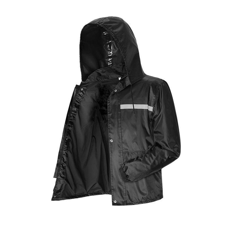 Raincoat coat mens clothing style top raincoat half length mens single piece labor protection outdoor mountaineering short