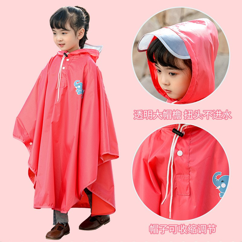 Babys raincoat girls students thickened waterproof Cape princesss lovely childrens Cape riding childrens raincoat