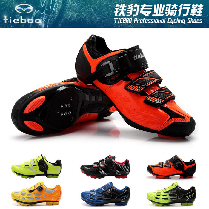 Genuine boxed iron leopard riding shoes mountain lock shoes road riding shoes self lock bicycle breathable Entry Mens and womens shoes