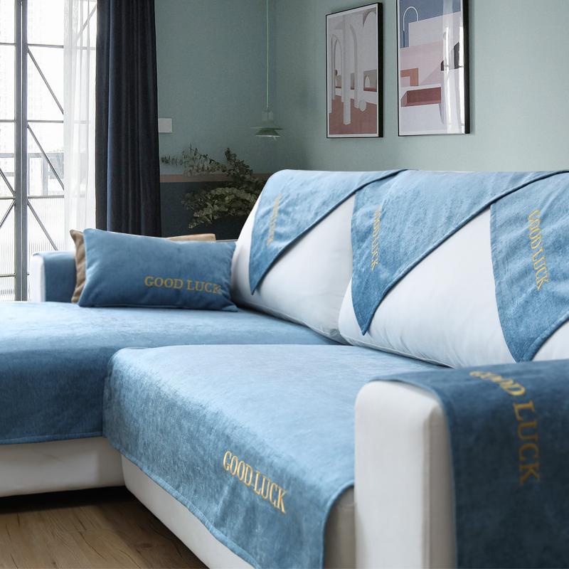 热销30889件限时抢购雪尼尔沙发垫布艺防滑北欧简约沙发套罩四季通用坐垫皮沙发巾全包