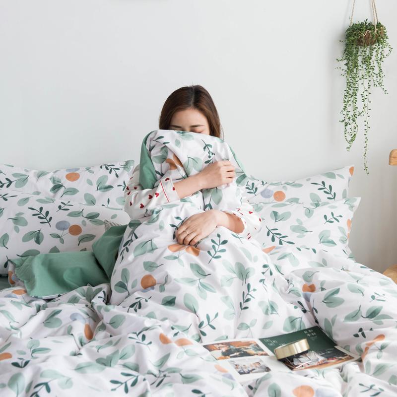 新款全棉四件套纯棉床单被套三件套床笠双人网红款被单床上用品4
