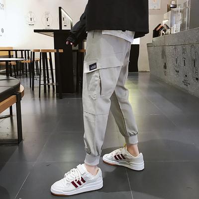 秋季超火的工装裤 潮男立体口袋束脚裤哈伦裤子K36P65