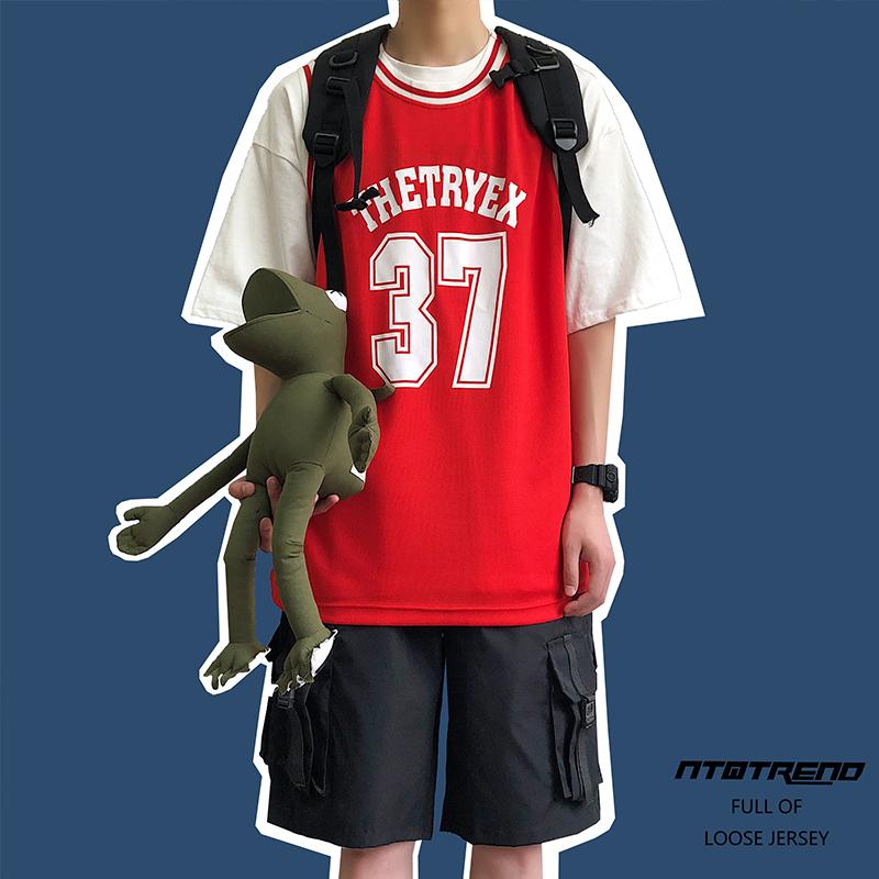子俊男装夏季嘻哈无袖T恤男潮韩版宽松汗背心学生百搭汗衫篮球衣