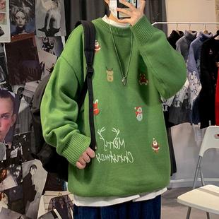 子俊男装圣诞老人提花秋冬季针织衫