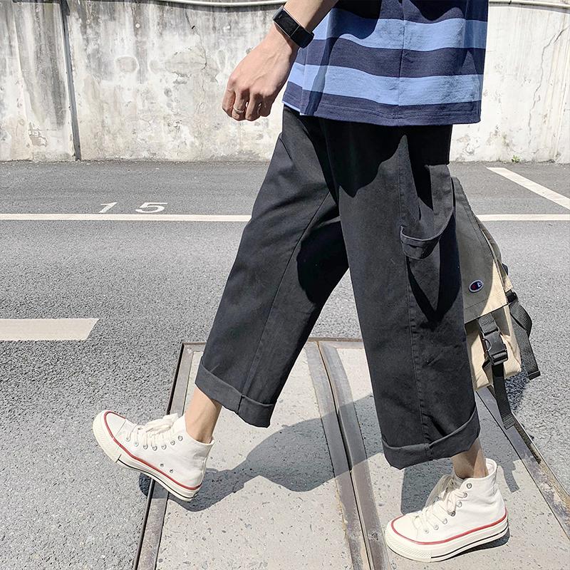 子俊男装夏季飘带宽松直筒休闲裤热销49件假一赔三