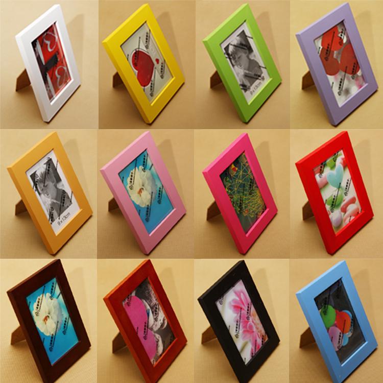 實木相框彩色5寸6寸7寸8寸10寸A4證書組合相框畫框低價促銷
