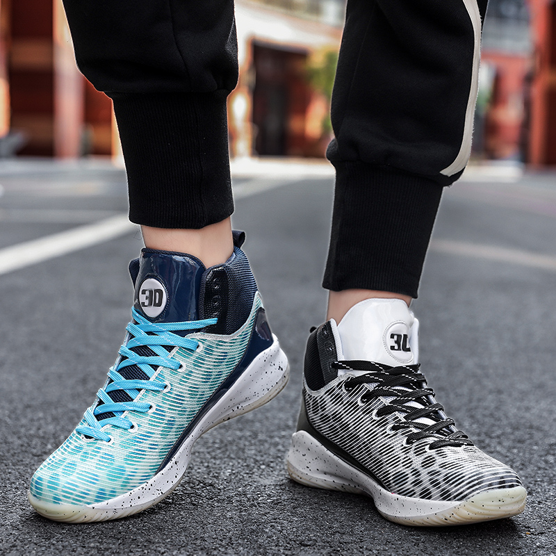 Curie 6 practical basketball fashion shoes male Owen 5 student high top summer sports shoes couple can match mandarin duck with sound