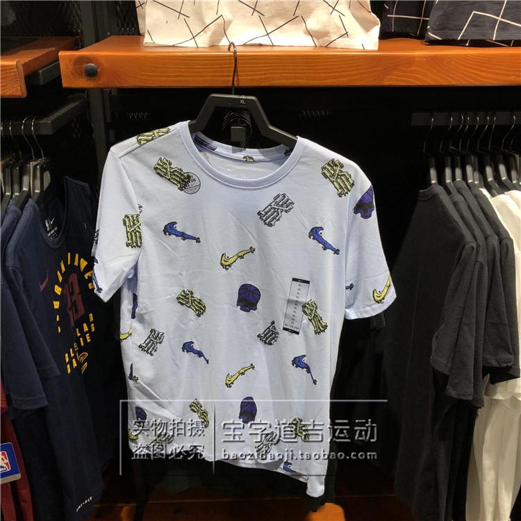 耐克NIKE Kyrie 欧文 男子篮球运动休闲短袖T恤 913471-100-415