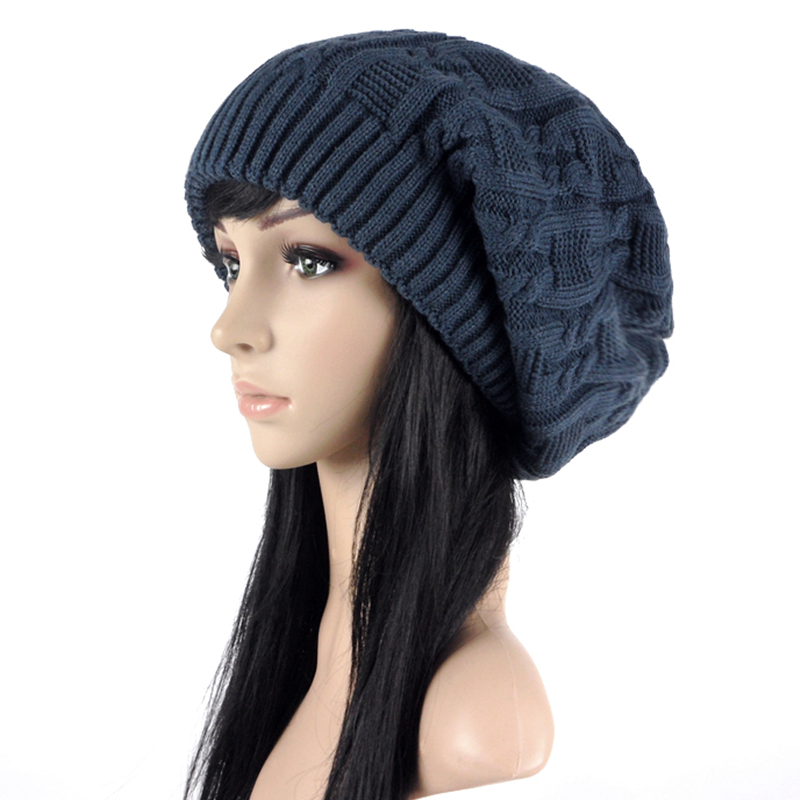 Hat girl winter Korean trendy pure wool hat versatile student hat double layer ear protection cute knitting hat autumn and winter