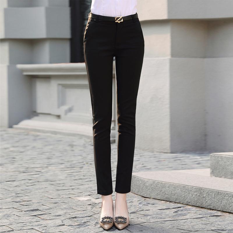 黑色工作裤女士小西裤女职业女裤