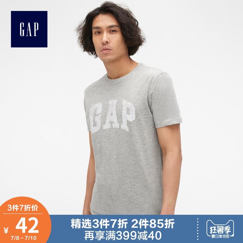 Gap男装纯棉短袖T恤夏季541069 E美式休闲logo上衣宽松薄款衣服男