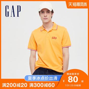 gap男装logo弹力短袖440725 polo衫