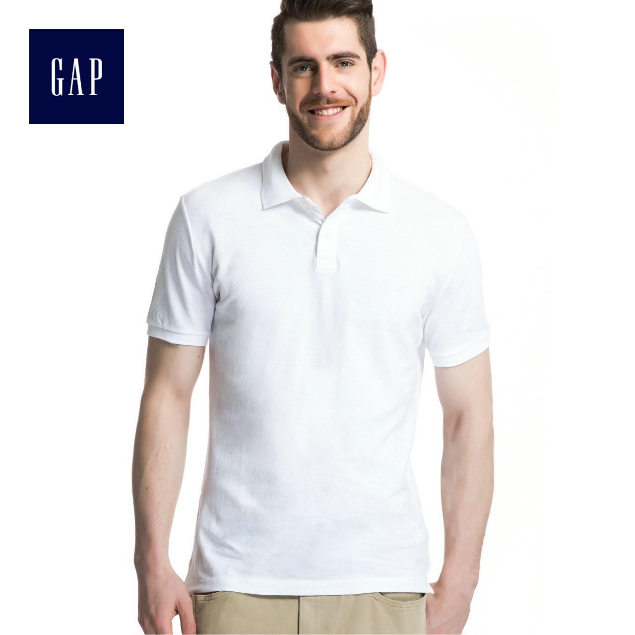 Gap男装 纯棉纯色两粒扣开襟Polo衫 针织内搭上衣520251-1