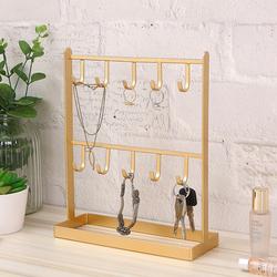 桌面铁艺首饰饰品耳环挂架项链架子展示架玄关进门钥匙架创意摆件