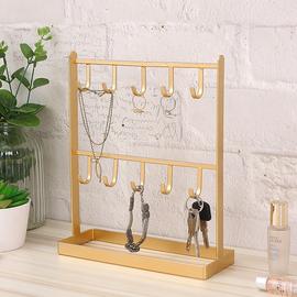 桌面铁艺首饰饰品耳环挂架项链架子展示架玄关进门钥匙架创意摆件图片
