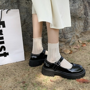 复古玛丽珍鞋女夏2021新款百搭日系jk粗跟单鞋子英伦风春秋小皮鞋