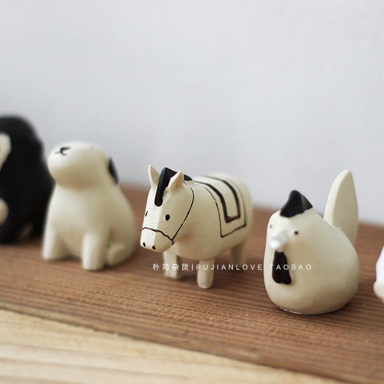 朴简|日式治愈系动物摆件 仿木质森系工艺品 生日礼物1080