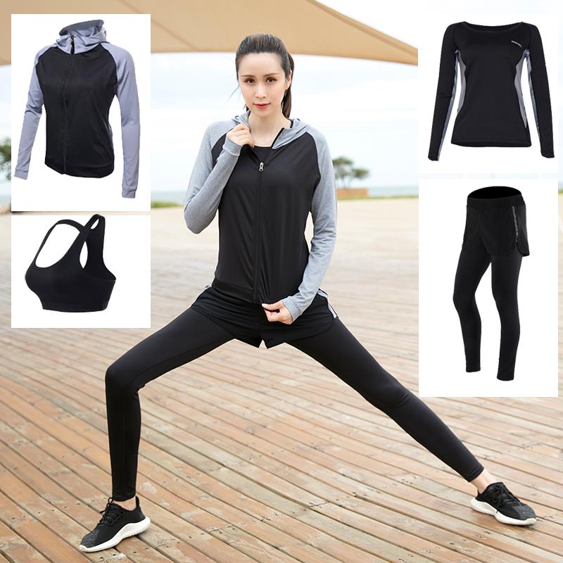 斯泊恩2018秋冬新款瑜伽服套装女专业健身房运动套装速干健身服女