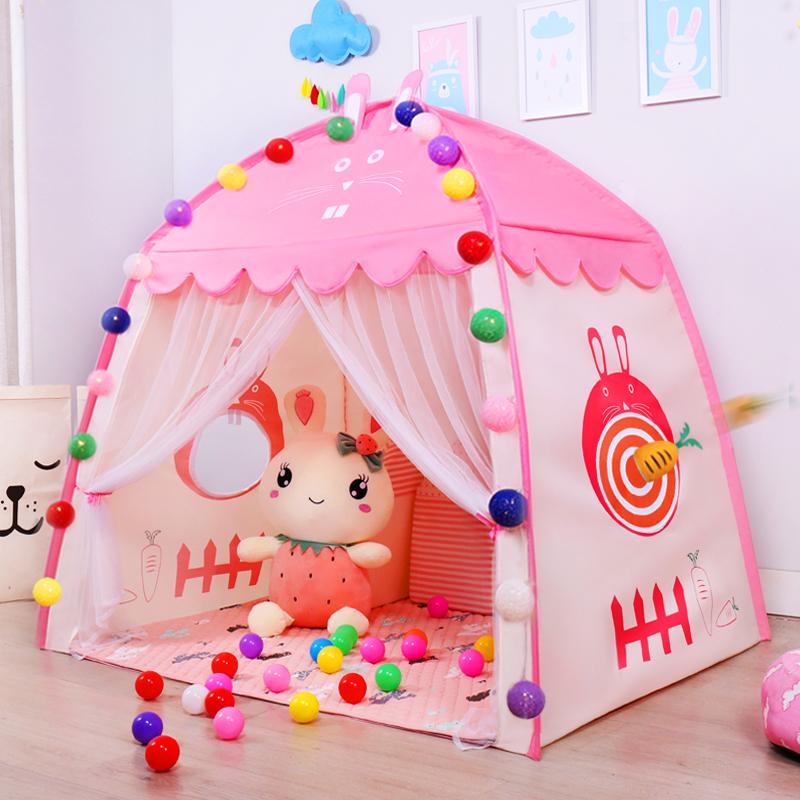 需要用券帐篷儿童室内 女孩公主帐篷床宝宝睡觉小房子城堡家用游戏玩具屋