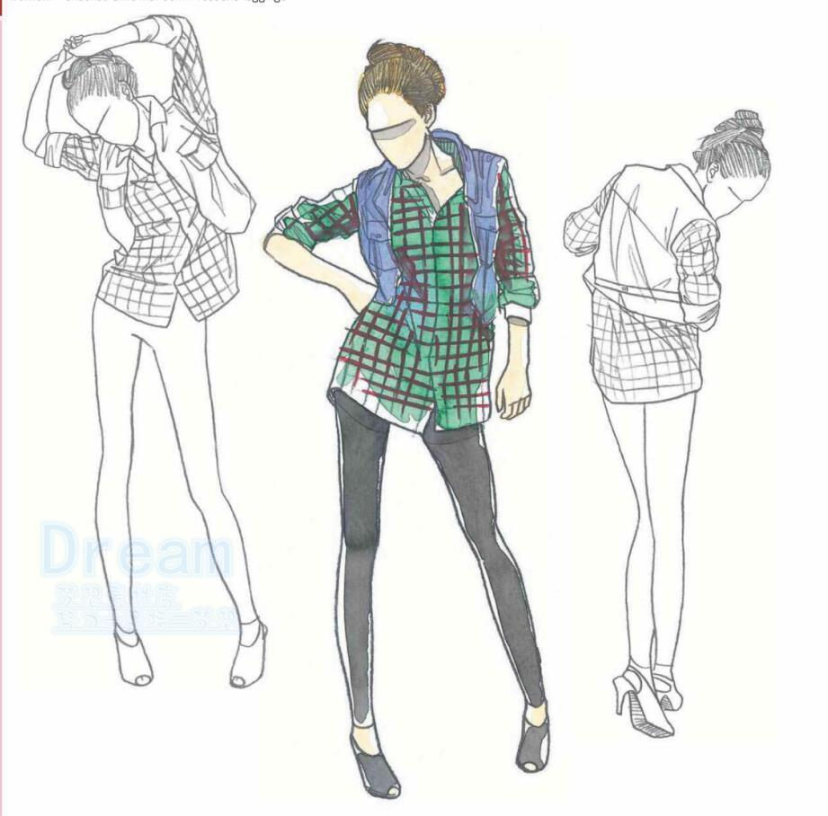 1000 fashion clothing styles action drawing clothing action sketch draft line draft reference design materials