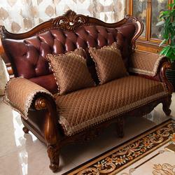 欧式真皮沙发垫套布艺高档奢华美式四季通用防滑123组合套罩坐垫